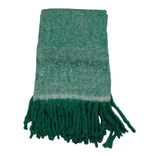Evenaar mohair plaid naturel/groen